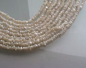 SUPPLIES -  Small Center Drilled Keishi Pearls 16 inches per Strand, 4 - 4.5 mm