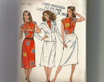 Butterick Misses' Jacket, Blouse and Skirt Pattern 6991