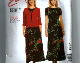McCall's Misses' Unlined Jacket and Dress Pattern 2838