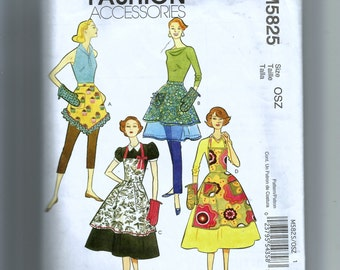 McCall's Misses' Aprons and Oven Mitt Pattern M5825