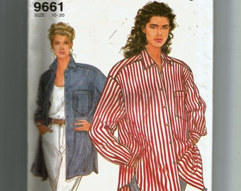 Simplicity Misses' Loose Fitting Shirt Pattern 9661