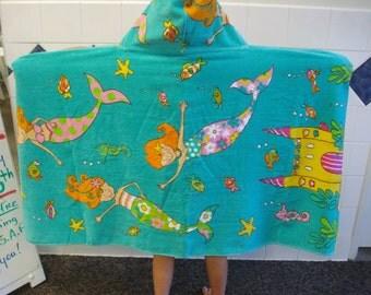 Hooded Towel/Lilys Castle/Mermaids/After Bath/Beach/Swim/Gift