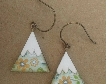wearables...earrings...summer floral mountains