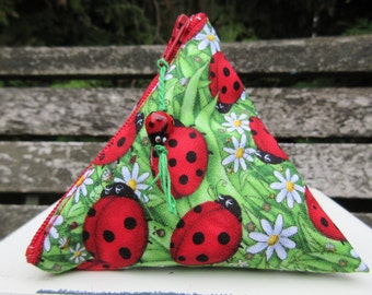 Ladybug Mooncup Pouch with cup spot to match