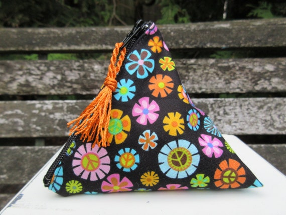 LAST ONE Peace Flower Pouch