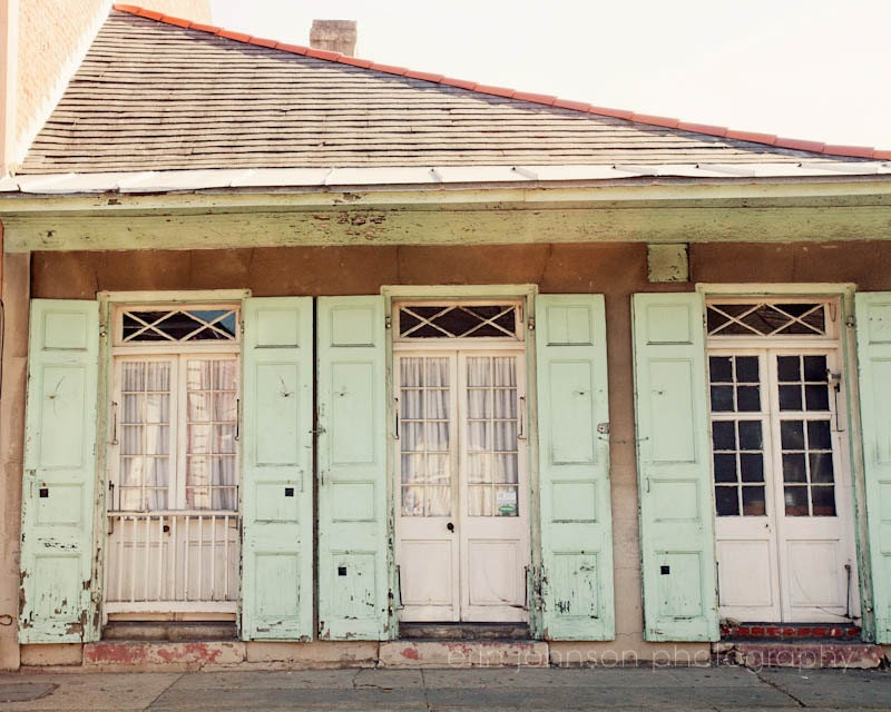 new orleans art french quarter photography blue shutters decor cottage home decor - Home Decor New Orleans