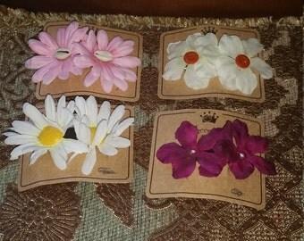 Children Flower Barrettes
