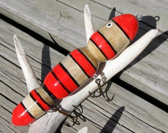 Reclaimed Driftwood Muskie Fishing Lure