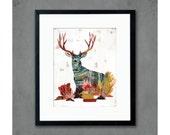 Mule Deer in Meadow Art Print