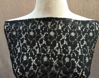 Lace Fabric Two 3/8 Yard Remnant