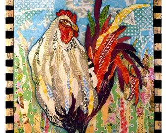 Wakeup Call Print - Colorful Rooster