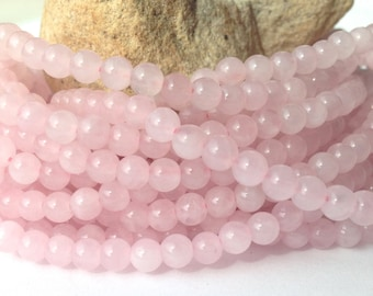 4mm Rose Quartz Beads, 4mm Round Pink Beads, Pink Bead, One full Strand, Approx 100 beads, small pink beads, Wholesale beads