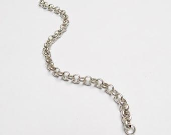 """Silver Rolo Chain 6.5"""" Segment"""