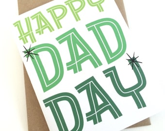Happy Dad Day - Fathers Day Card
