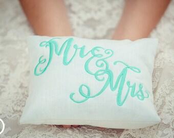 Mr & Mrs Wedding Pillow Custom