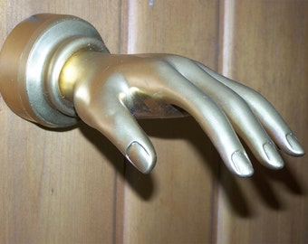 Willy Wonka and the Chocolate Factory GOLDEN HAND coat and hat wall HANGER reproduction