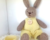 Bunny, Eco Kids Toy, Waldorf Toy Stuffed Animal, Bunny Rabbit . Natural and Eco Friendly, Heirloom Quality