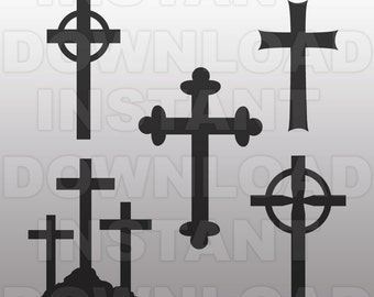 Crosses SVG File Cutting Template-Clip Art for Commercial and Personal Use-vector art file for Cricut,SCAL,Cameo, Sizzix, Pazzles,Decal