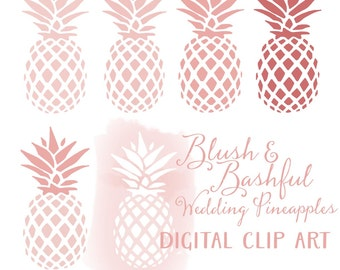 Pineapples clip art - Instant download digital clip art - Blush & Bashful wedding clip art - Pineapples