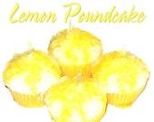 4 Lemon Pound Cake Cupcake Candle Minis Bakery Fruit Scent Votive