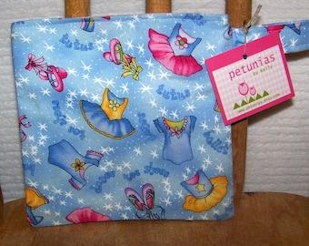 SALE Reusable Little Snack Bag - pouch adults kids ballet ballerina eco friendly by PETUNIAS