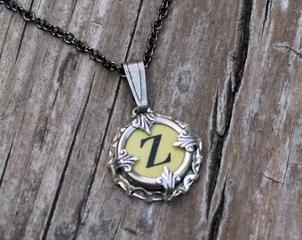 Letter Z  Vintage Typewriter Key Wrap Necklace