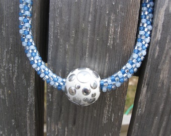 Haute Bleu Kumihimo Necklace