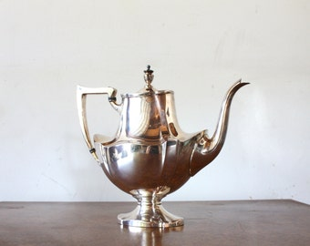 Vintage Collectible Lawrence B. Smith Silver Plated English Teapot L B S Co 1417, Superfine EPNS, Vintage Teapot, Hollywood Regency Teapot