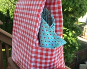 Basic Oil Cloth Lunch Bag- Red Gingham