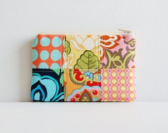 Coin Purse Amy Butler Patchwork Zipper Pouch Makeup Bag Cosmetic Case