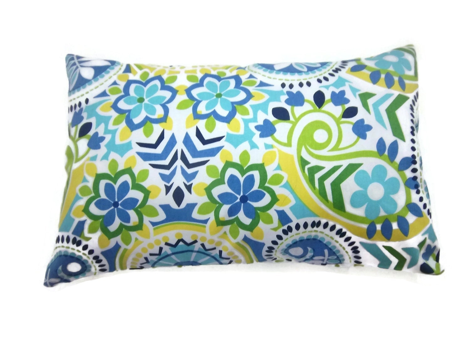 Sky Blue Decorative Pillows : Decorative Pillow Cover Navy Blue Sky Blue Olive Green