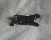 Black Angus Cow Home Decor Hanger-Hand Painted, Sculpted