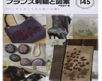 145 French Embroidery Patterns  Japanese Craft Book