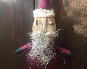 Primitive Doll, Santa,  Ornie