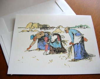 Poodle Gleaners - Humorous Greeting Card
