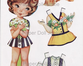 Instant Download 5 Pages Paper Doll Set
