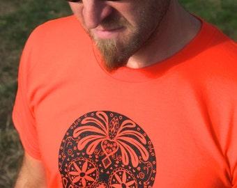 Dia De Los Muertos Sugar Skull Tee Shirt Men's