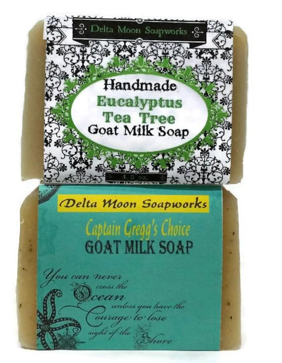 Soap - Eucalyptus Tea Tree and Captain Gregg's Choice Goat Milk Soaps, essential oil soap, natural soap, cold process soap, sensitive skin