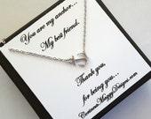 Sideways Anchor Necklace, Best Friend Gift, Friend Gift, Wedding Gift, Strength, Best Friend, maid of honor, beach wedding, summer wedding