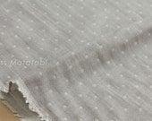 Japanese Fabric Kokochi Double gauze - reversible dots GRY -  50cm