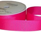 """Hot Pink 1.5"""" Grosgrain Ribbon - 3 yards"""