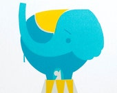 Big Top Elephant - A4 silkscreen print