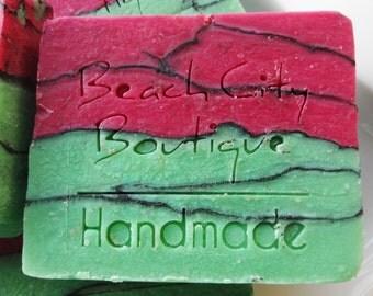 Strawberry Kiwi Handmade Cold Process Soap