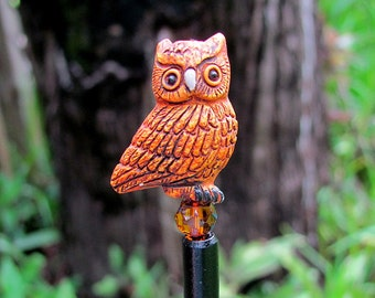 Owl Eyes Hair Stick or Shawl Pin