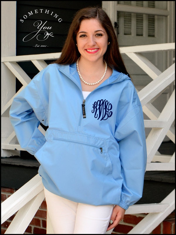 Carolina Blue Monogram Windbreaker Jacket by SomethingYouGifts