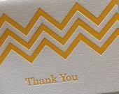 Chevron Thank You letterpress card