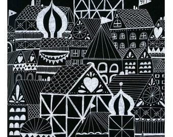 Yes Town Art Print by Lisa Congdon (Limited Edition)