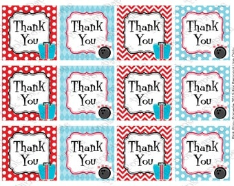 Printable Bowling Thank You Tags - Instant Download