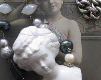 white lady . necklace
