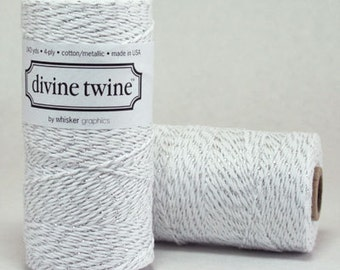 Shimmering Silver Bakers Twine